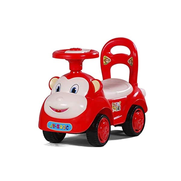 Twist car Swing car Children With Music Baby Scooter Walker Four-wheeler Yo Car 1-3 Years Old Baby Toy Car FANJIANI (color : Red) Twist car ▶Tip: The delivery time of the product is 8-15 days, If you have any questions, please feel free to contact us ▶Environmental PP material, non-toxic, no odor, corrosion resistance, high temperature resistance, anti-drop, shockproof, baby play more assured ▶ Let the baby stimulate the left and right brains by grasping and promote the development of the cerebellum, By constantly adjusting the steering wheel, you can exercise your baby's sense of direction and flexibility, and effectively develop your baby's potential 1