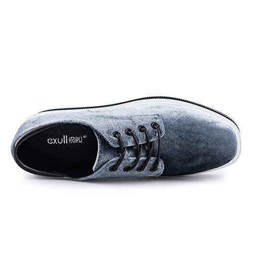 Chaussures à Tête Carrée Printemps-automne/Épaissir Chaussures Plate-forme/Ladies Casual Shoes/Deep-cut Minces Shoes B