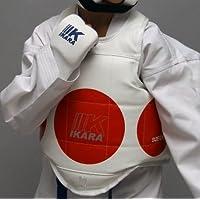 Peto protector de pecho, para taekwondo, karate, etc. talla media, usuario de 170 cm.(blanco detalles azul)