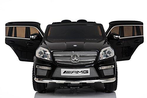 RC Auto kaufen Kinderauto Bild 3: Mercedes Benz GL63 AMG Jeep SUV Lizenz Kinderfahrzeug mit 2x 35W Motor Kinderauto Elektroauto Fernbedienung MP3 Anschluss in Schwarz*