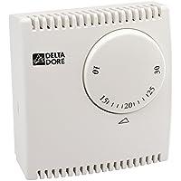 Delta Dore DEL6053038 Tybox 10 Thermostat d'ambiance mécanique filaire pour chauffage/climatisation