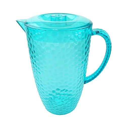 Bid Buy Direct® Premium Qualität Kunststoff Geschirr/serve-ware | nahezu unzerbrechlich | wiederverwendbar Qualität Reihe–Wein Kelche, Becher und Drink Krüge | Bruchsichere | transparent, elegant, sicher–BPA-frei. 2L Blue Jug