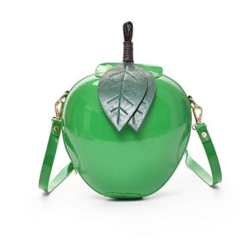 Bag Bags Frauen Multifunktions Handtasche Loveso Frauen Mode Apple Handtasche Zipper Bag Schultertasche Tote Damen Messenger Bag (Grün, 19*11*18cm) (Leder Patent Tote Kleine)