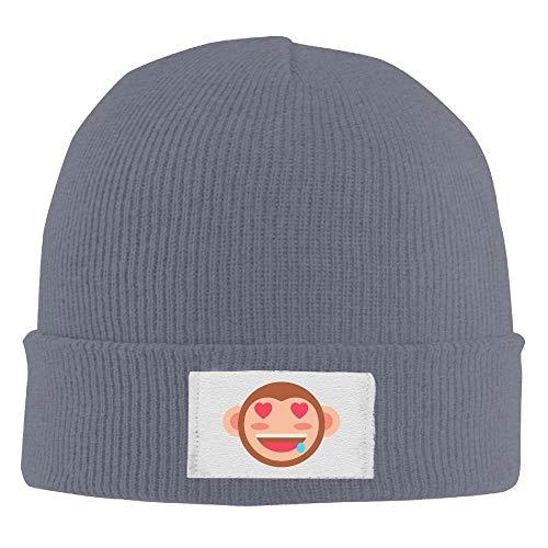 Haloxa Adult süße Ziege elastische Strickmütze Mütze warme Schädel Hüte One Size