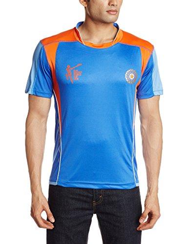 ICC CWC 2015 India V Neck T-Shirt, Men's Medium (India Blue)