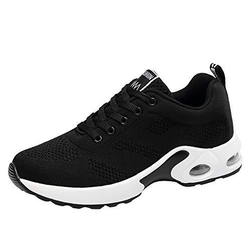 Damen rutschfeste leichte Slip on Sneakers, Selou Casual atmungsaktive Flying Woven Running Mesh Schuhe Frauen Elegant Hohe Outdoor Art Pumps Trekking Running Camper Breite FüßE Sport Sneakers