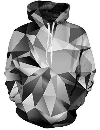 Goodstoworld Hoodie Diamond Damen Herren LustigeDruck Herbst Langarm Pullover Kapuzenpullover Sport Kapuze Kleidung Diamond Hoodie Pullover