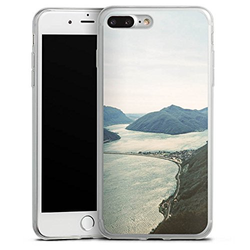Apple iPhone 8 Slim Case Silikon Hülle Schutzhülle Fluss Tal Huegel Silikon Slim Case transparent