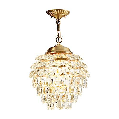 Kristall-blumen-kronleuchter (DAMAI STORE Kupfer Blütenblatt Kristall Blume Kronleuchter Wohnzimmer Schlafzimmer Esszimmer Balkon Nacht Kronleuchter)