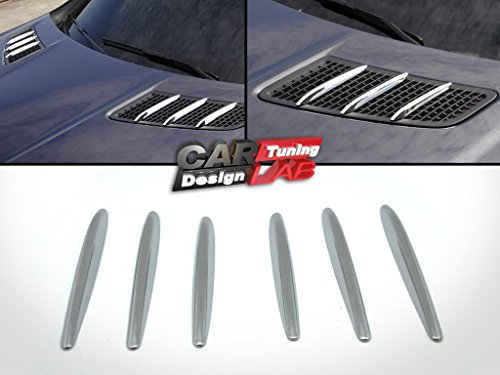 Preisvergleich Produktbild CarLab (6) chrom Kapuze Formen Grill Gitter Vent Bezug für 12–16 R172 SLK