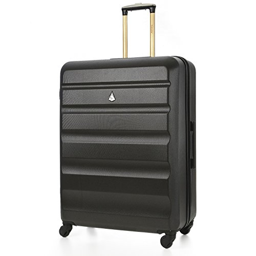 """Aerolite Large Super Lightweight ABS Hard Shell Travel Hold Check In Luggage Suitcase with 4 Wheels, 29"""", Charcoal"""