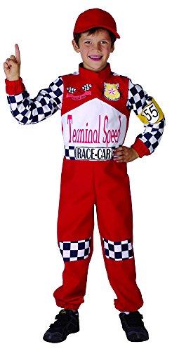 Rennfahrer Kostüm für Kinder 122/134 (7-9 (Anzug Rennfahrer Kostüm)