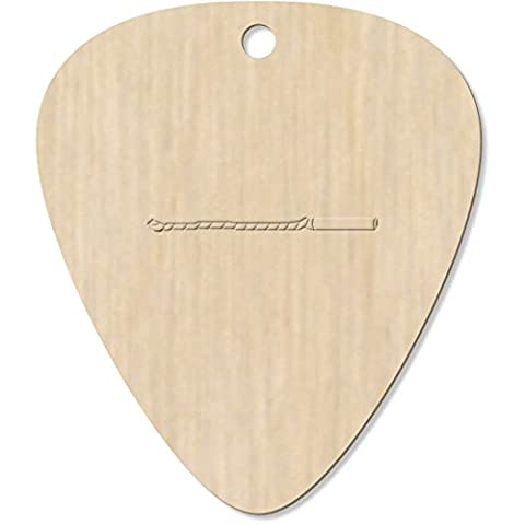 7 x 'Unrolled Party Horn' Engraved Guitar Picks / Pendants (GP00010764)