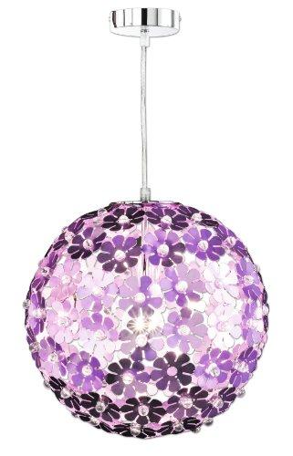 Honsel Leuchten 61021 - Lámpara de techo de cromo y fibra acrílica, iluminación clara, color lila