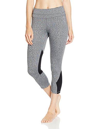 Intimuse Damen Sport Yoga 3/4 Capri Leggings Tight, Grau (Grau Melange 026), 38 (Herstellergröße: M)