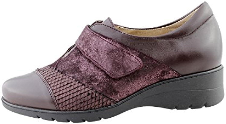 Calzado mujer confort de piel PieSanto 175956 Velcro cómodo ancho