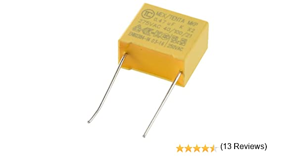 REFURBISHHOUSE 10 Pcs AC 275V 1uF Polypropylene Film securite Condensateurs