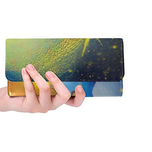 Krippe Heilige Familie Frauen Trifold Brieftasche Lange Geldbörse Kreditkarteninhaber Fall Handtasche ()