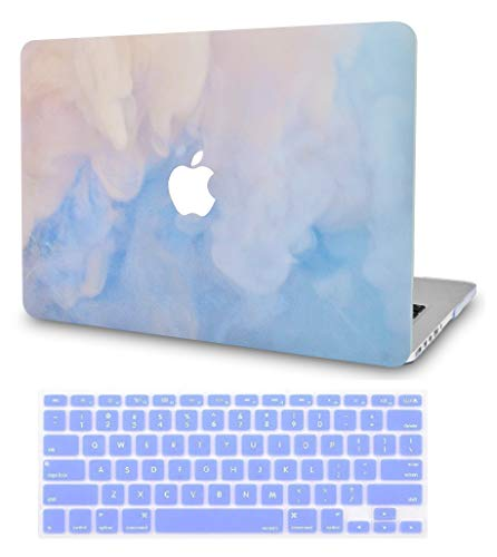 Luvcase MacBook Case mit Tastaturhülle Mehrfarbig Blue Mist with Keyboard Cover A1466/A1369 Air 13