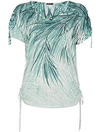 Roman Originals T-shirt Motif Floral Tropical Confortable Manches Courtes Vert