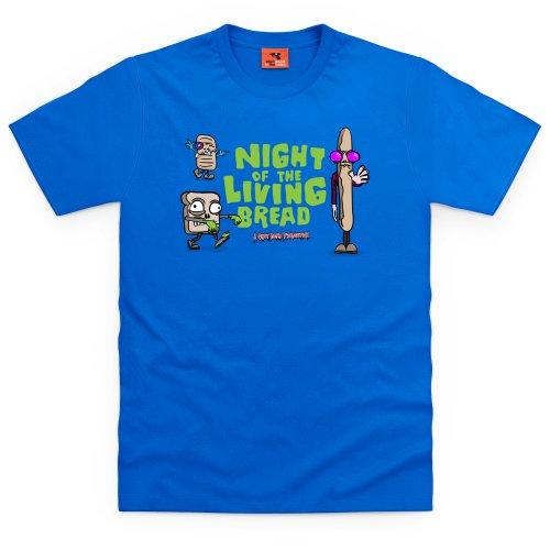 Night Of The Living Bread T-Shirt, Herren Royalblau