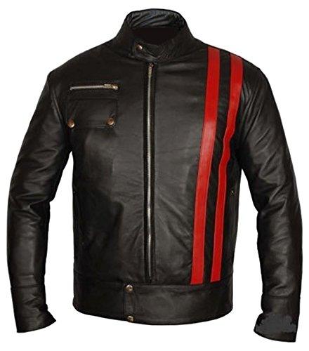 Classyak Herren Fashion Xmen Moto Leder Jacke Hohe Qualität Gr. Medium, Faux Black -