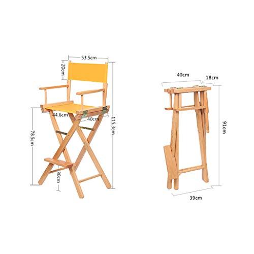 ZCCDYY Chaise Fauteuil Directeur Directeur Chaise Pliante Dos Maquillage Grande Chaise extérieure en Bois Taille: 53.5 * 40 * 115.3cm