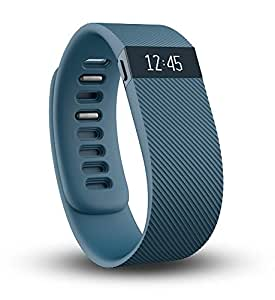 Fitbit Charge Wireless Activity Tracker and Sleep Wristband, Large (Slate)