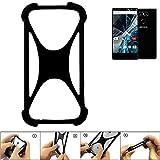 K-S-Trade Handyhülle für Archos Sense 55 S Schutz Hülle Silikon Bumper Cover Case Silikoncase TPU Softcase Schutzhülle Smartphone Stoßschutz, schwarz (1x)