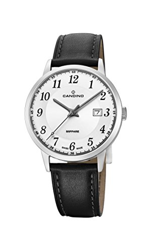 Candino Mens Analogue Classic Quartz Watch with Leather Strap C4618/1