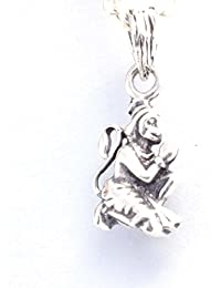 Gem O Sparkle This classic, meaningful and perfect for everyday wear Lord Hanuman pendant. (925 Sterling Silver)