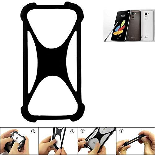 K-S-Trade Handyhülle LG Stylus 2 DAB+ Silikon Schutz Hülle Cover Case Bumper Silikoncase TPU Softcase Schutzhülle Smartphone Stoßschutz, schwarz (1x)