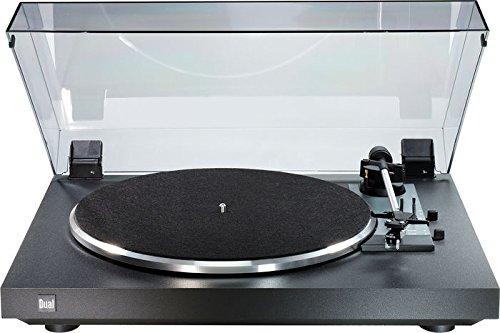 Dual CS 415-2 Vollautomatischer Plattenspieler (DC-Motor, Gewichtsbalancierter Tonarm, DMS251S Magnet-Tonabnehmer) schwarz -