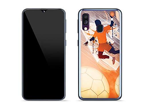 Hülle für Samsung Galaxy A40 - Hülle Fantastic Case - Handball Handyhülle Schutzhülle Etui Case Cover Tasche für Handy