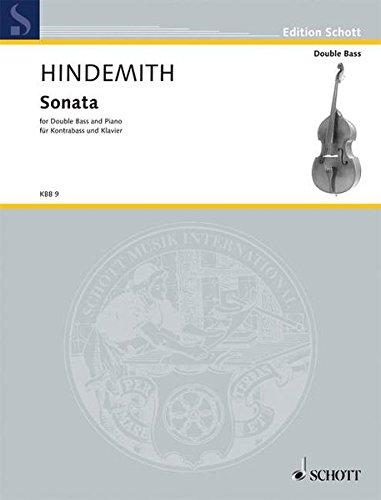 Sonata: Kontrabass und Klavier. (Edition Schott)