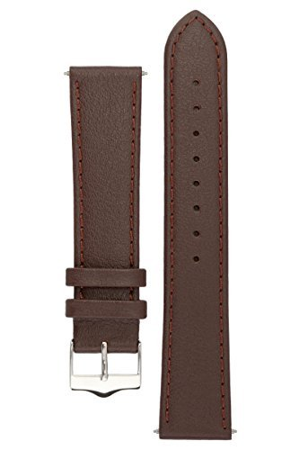 signature-seasons-in-brown-18-mm-watch-band-replacement-watch-strap-genuine-leather-silver-buckle