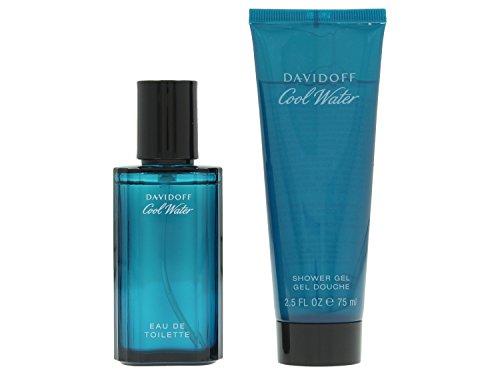Davidoff cool water set regalo per gli uomini contiene eau de toilette spray 40 ml e gel da doccia 75 ml