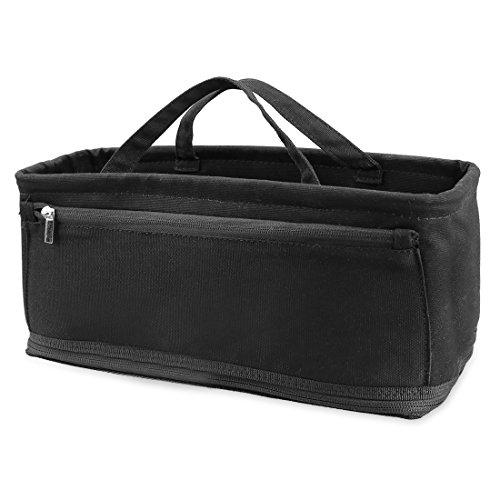 Schnuller-halter Wickeltasche (Ava & Kings Wickeltasche Einsatz Organizer und Windel Tote Handtasche Base Shaper–10Taschen, 2Baby Flasche Halter Riemen–(verschiedene Styles) Solid Black)