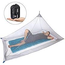 Dimples Excel Camping Moskitonetz für Einzel Camping Bed, Kompakt und Leicht