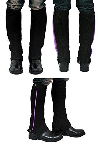 Riders Trend, Ghette da equitazione Donna Amara, al ginocchio, in finto scamosciato Viola (schwarz - Schwarz/Violett)