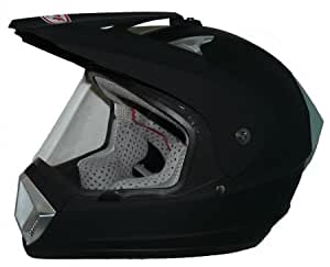 protectwear casque de moto cross casque enduro casque noir mat dp 905 avec visi re. Black Bedroom Furniture Sets. Home Design Ideas