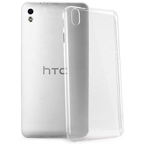 Thinkzy Transparent Premium Silicon Soft Back Cover for HTC Desire 816G(Transparent)