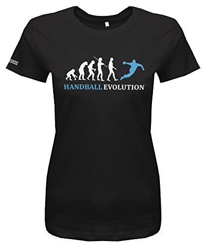 HANDBALL EVOLUTION - Schwarz - WOMEN T-SHIRT by Jayess Gr. XXL