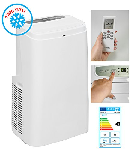 Climatiseur mobile | Climatiseur | monobloc Climatiseur | | 12000btu | climatique 24liter/jour Déshumidificateur–Ventilateur–3520W 3marches | avec tuyau d'évacuation | Touch Panel–Télécommande