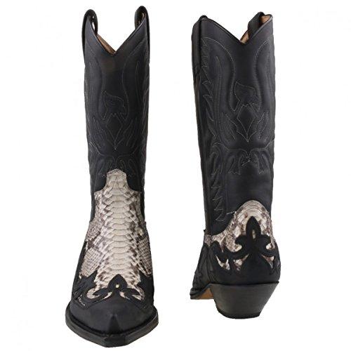 Sendra python cowboystiefel 3241 noir/blanc Noir - Schwarz/Weiss