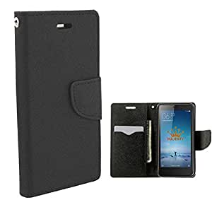 Majesty Wallet Style Flip Cover for Xiaomi Redmi Note 3 - Black