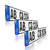 3 x EU KFZ Nummernschilder Autoschilder Kennzeichen ALLE AUTOMARKEN mit...