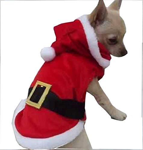 QHorse Regenjacken T-Shirt Inception Pro Infinite Kostüm - Verkleidung - Weihnachtsmann Hoodie - XXS Hundegröße Weiches - Weihnachtsmann Kostüm T Shirt