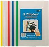 5 x A4 Clear Clip Bar Files Report Project Presentation Slide Binder Folders