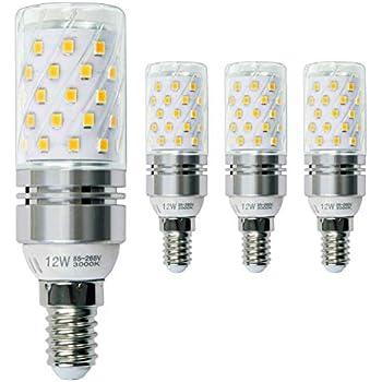 Hzsane E14 LED maíz bombilla 12W, 3000K Blanco Cálido LED Bombillas, 100W Incandescente Bombillas Equivalentes, Candelabro E14 SES Bombillas, 1200lm, ...